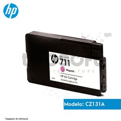 Cartucho de tinta Magenta, Rojo DesignJet HP 711 de 29 ml, (CZ131A)