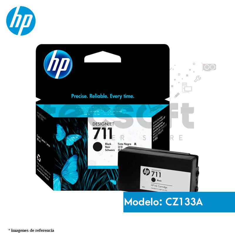 Cartucho de tinta Negro DesignJet HP 711 de 80 ml, (CZ133A)
