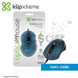 Mouse Silencioso Klip KMO-250BL USB Blue