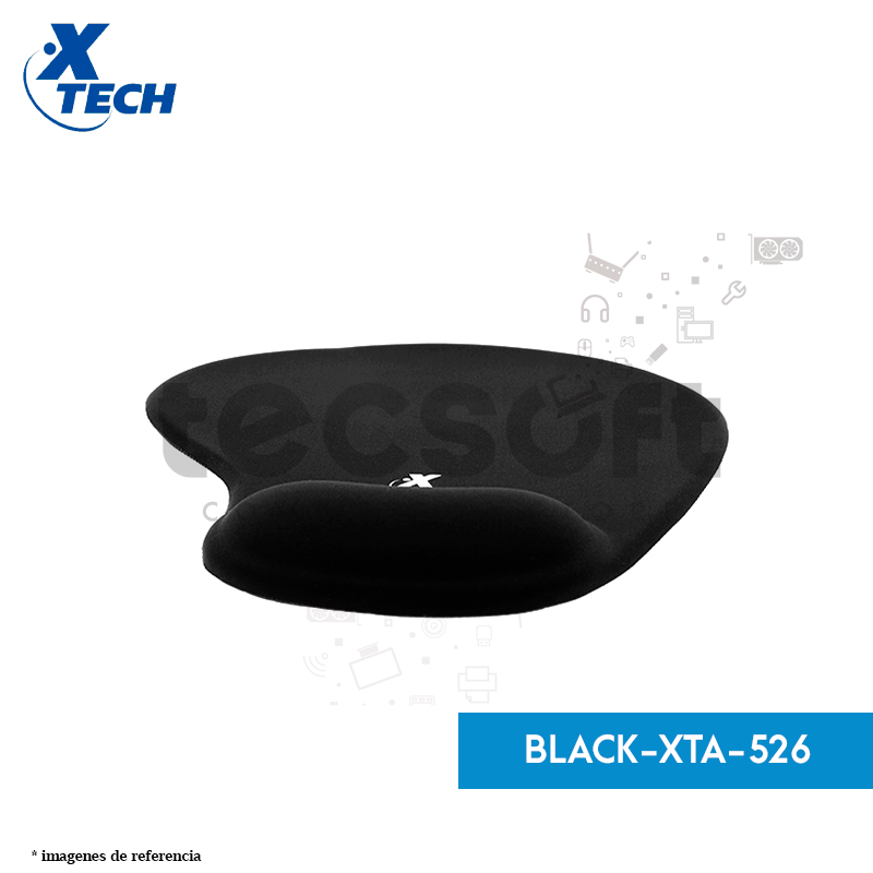 Alfombrilla de gel para mouse con apoyo para la muñeca Xtech XTA-526