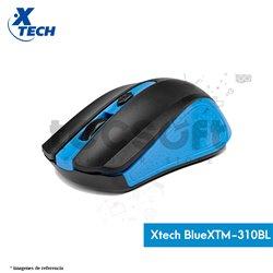 Mouse óptico inalámbrico de 4 botones Blue XTM-310BL