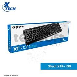 Teclado multimedia Xtech en español XTK-130 Negro