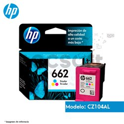 Cartucho de Tinta HP 662 ColorOriginal (CZ104AL)