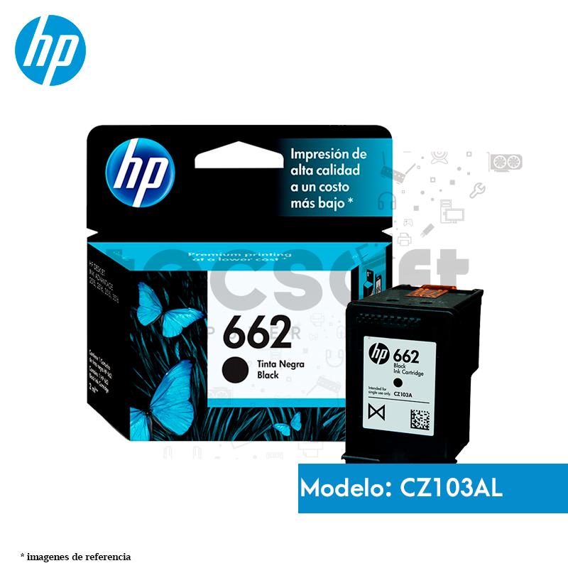 Cartucho de Tinta HP 662 Negro Original (CZ103AL)