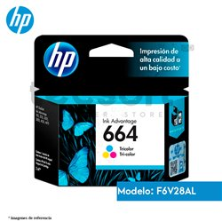 Cartucho de Tinta HP 664 Color Original (F6V28AL )