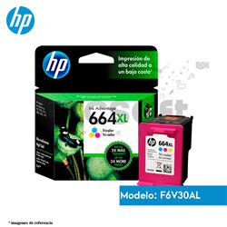 Cartucho de Tinta HP 664XL Color Original (F6V30AL )