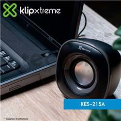 Parlantes estéreo multimedia 2.0 Eklipse (KES-215A)