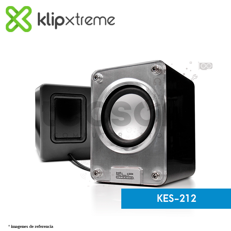 Parlantes estéreo multimedia 2.0 speakers (KES-212)