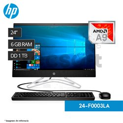 "HP ALL IN ONE 24-F003LA 24"" AMD A9 1TB 6GB 2GB"