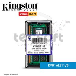 Memoria RAM, 8GB 1600MHz DDR3L Non-ECC CL11 SODIMM 1.35V (KVR16LS11/8)