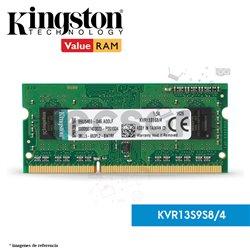 Memoria RAM, 4GB 1333MHz DDR3 Non-ECC CL9 SODIMM 1Rx8 (KVR13S9S8/4)