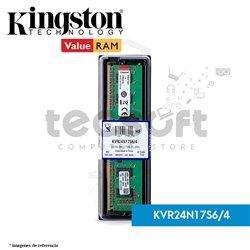 Memoria RAM, 4GB 2400MHz DDR4 Non-ECC CL17 DIMM 1Rx16 (KVR24N17S6/4)
