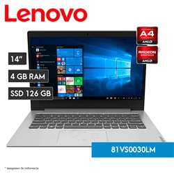Laptop IdeaPad Slim 1-14AST-05 | AMD A4-9120e | 4RG RAM | 128GB SSD | AMD Radeon R3 Graphics (81VS0030LM)