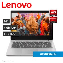 Laptop IdeaPad S145-14AST | AMD A6-9225 | 4RG RAM | 1 TB HHD | AMD Radeon R4 Graphics (81VS0030LM)