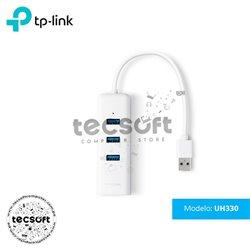 Adaptador USB 2 en 1 con Hub de 3 Puertos USB 3.0 y Adaptador Ethernet Gigabit