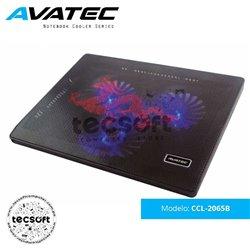 Avatec - Cooler para Laptop CCL-2065B con malla metálica