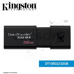 Dispositivo Flash USB 32GB DataTraveler 100 G3 con tapa deslizante (DT100G3/32GB)