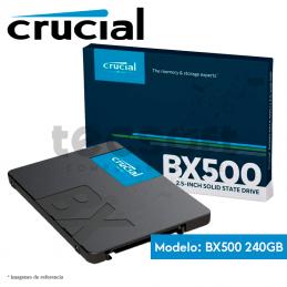 """Disco SSD 2.5"""" Crucial 240GB SATA3 (BX500)"""