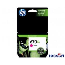 Tinta HP 670XL Magenta