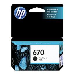 Cartucho de Tinta HP 670 Negra