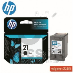 CARTUCHO HP NEGRO 21
