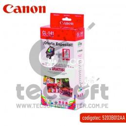 TINTA CANON CL-141+PAPEL...