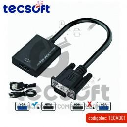 Cable Conversor VGA Macho a...