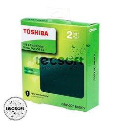 Disco Duro Externo Toshiba Canvio Basics 2.5'', 2TB, USB 3.0, Negro