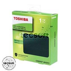Disco Duro Externo Toshiba Canvio Basics 2.5'', 1TB, USB 3.0, Negro