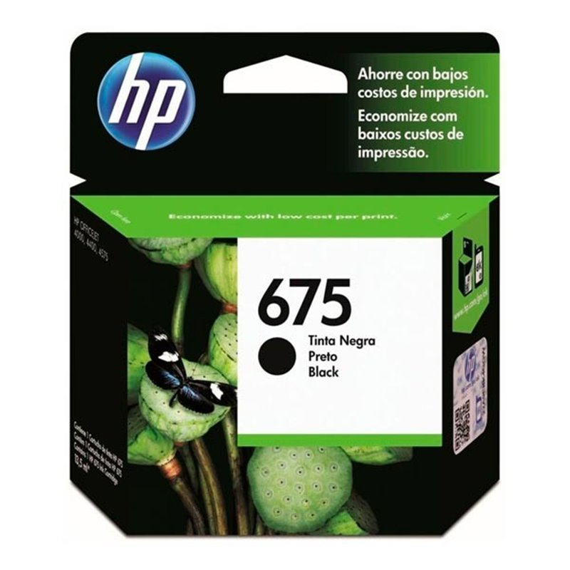 Tinta HP 675 Negro
