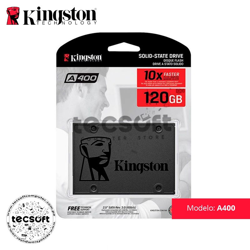 Disco Duro SSD Kingston A400 120GB
