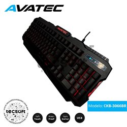 Teclado Multimedia Gaming CKB-3066BR Avatec