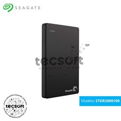 Disco duro externo Seagate Backup Plus Slim, 2TB, USB 3.0, Negro