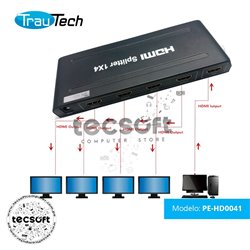 Splitter HDMI 1X4 TrauTech