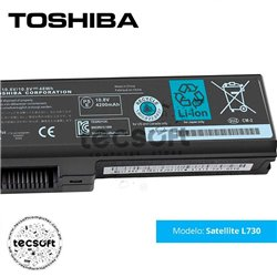 Batería TOSHIBA Satellite L730 Series [6 Cells 48Wh 10.8V]