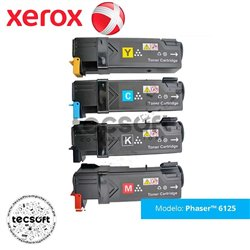 Toner Xerox Phaser 6125/6125N- 106R01331 106R01332 106R0133 106R01334