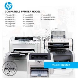 TONER HP LASERJET Q2612AD (Dual Pack) 1010/1015/3015/1020/1022
