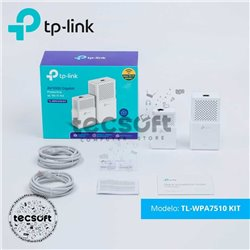 KIT de Adaptadores Powerline Gigabit AV1000 Wi-Fi AC TL-WPA7510 KIT
