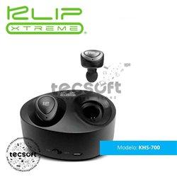 TwinBuds | Audífonos estéreo con verdadera conexión inalámbrica, tecnología Bluetooth y estuche de carga portátil KHS-700