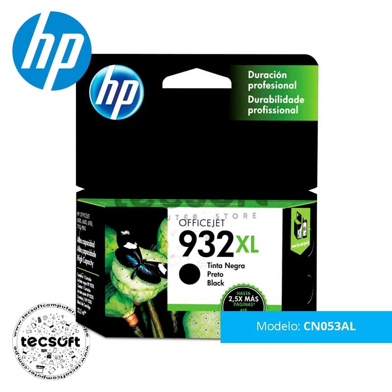 Cartucho original de tinta negra de alto rendimiento HP 932XL (CN053AL)