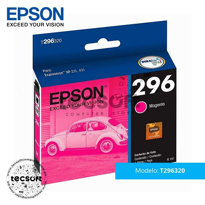 Cartucho Original Epson T296320 (296) Mangeta