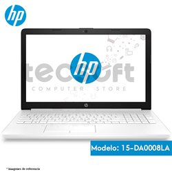 "Notebook HP 15-da0008la, 15.6"", Intel Core i3-7020U 2.30GHz, 4GB DDR4, 1TB SATA."