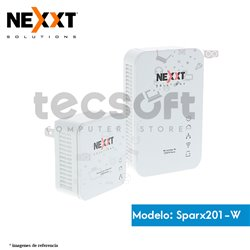Nexxt Sparx201-W - Kit de adaptador para powerline inalámbrico - puente