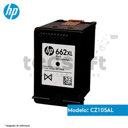 Cartucho de Tinta HP 662XL Negro Original (CZ105AL)
