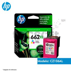 Cartucho de Tinta HP 662XL ColorOriginal (CZ106AL)